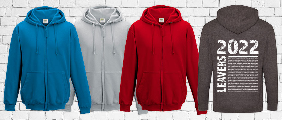 School Leavers' Zip Hoodies