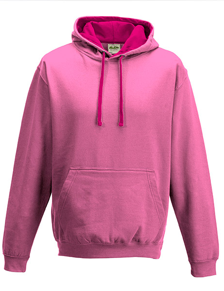 Varsity Hoodie - Candyfloss Pink/Hot Pink